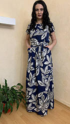 Плаття жіноче довге легке з кишенями по бокам