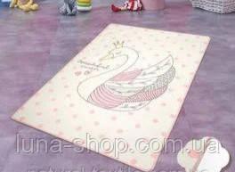 Коврик в детскую комнату Лебедь, 100х160 и 140х190, Турция