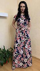 Плаття жіноче святкове для літа в синьому кольорі