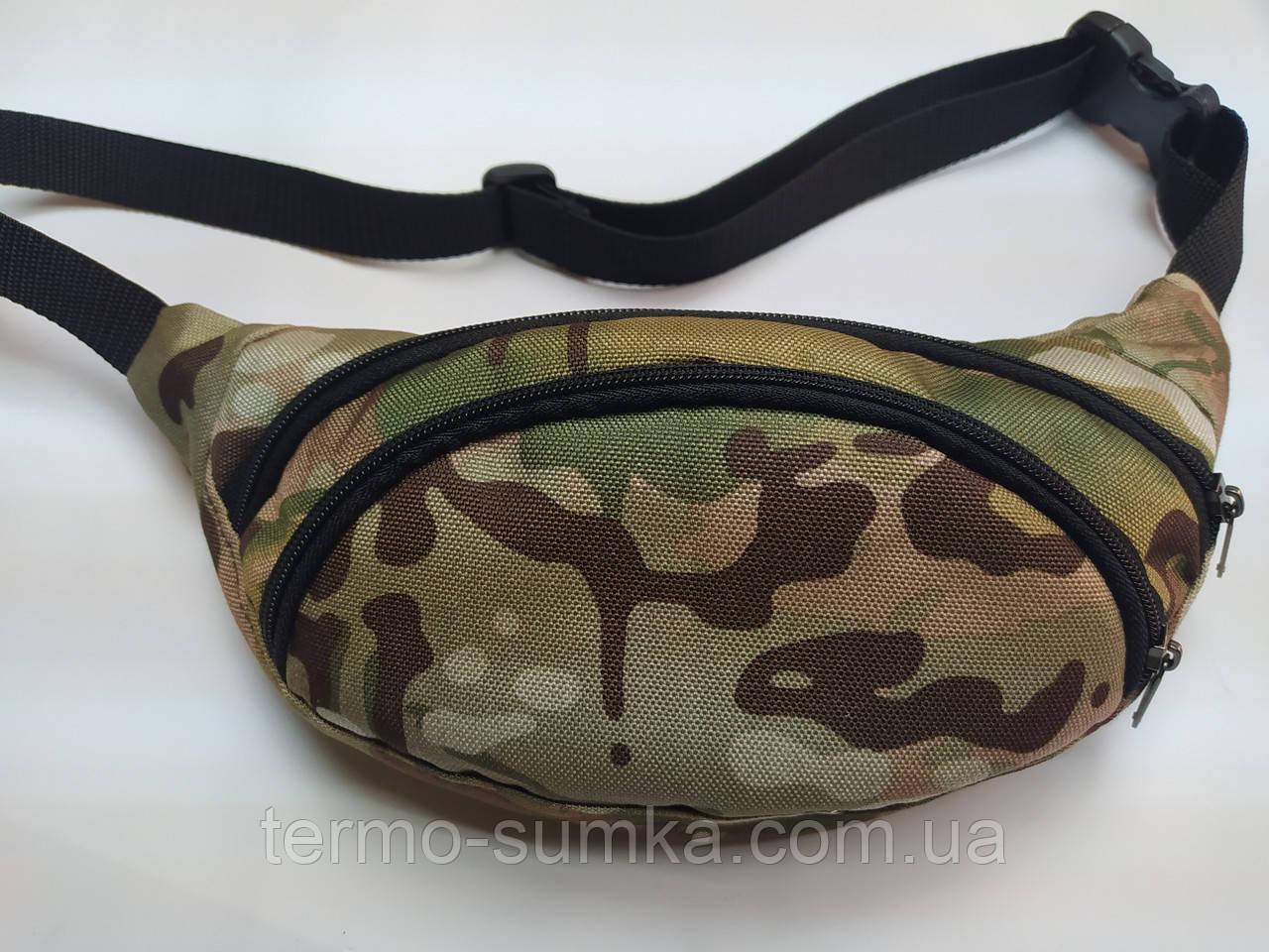 Поясна сумка бананка. Камуфляж НАТО