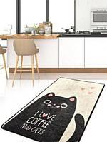 Коврик в детскую комнату Черный кот, 100х160 и 140х190, Турция