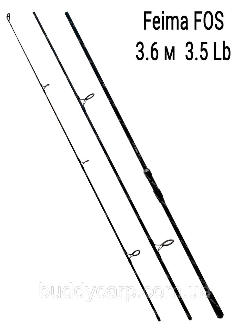 Карповое удилище 3.6 метра тест 3.5 lb Feima FOS