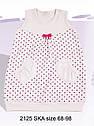 Летнее детское платье розовое в сердечки р.68-92см (Nicol, Польша), фото 6