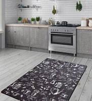 Коврик на кухню Черный, 100х160 и 140х190, Турция