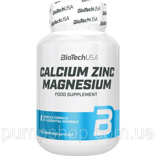 Кальций+магний+цинк Biotech USA Calcium Zinc Magnezium 100 таб.