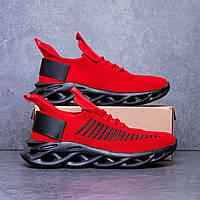 Необычные стильные мужские кроссовки красные