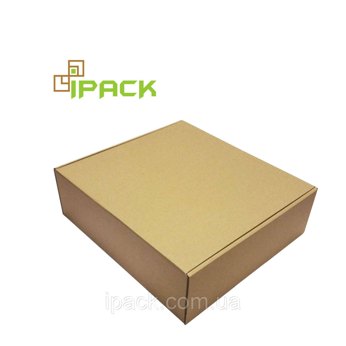 Коробка картонна самозбираюча 320*300*100 мм бура крафт мікрогофрокартон