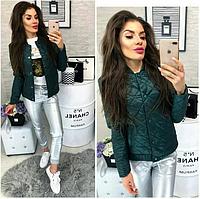 НЕДОРОГО модна жіноча демісезонна стьобана куртка р. 50, 52, 54, 56, 58, фото 1