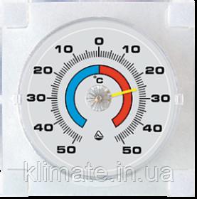 Термометр бытовой биметаллический,оконный на липучках
