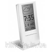 Термометр гигрометр комнатный цифровой электронный термогигрометр Т-14 белый с часами, фото 2