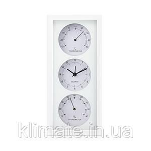 Термо-гигрометр биметаллический с часами исп 1, вертикальный