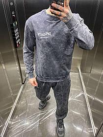 Чоловічий  Спортивний костюм  сидит оверсайз, наживо просто космос Мужской спортивный костюм