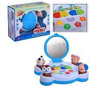 Развивающая игрушка для малышей Чудо зеркало с забавными зверятами, подсветкой, музыкой и светом 0949