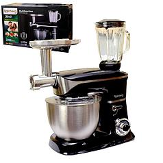 Кухонный комбайн Rainberg RB 8080 3в1 с мясорубкой тестомес и блендер 2200 Вт