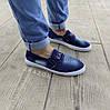 Сліпони мокасини чоловічі літні джинс текстильні джинсові тканинні, фото 2