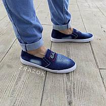 Сліпони мокасини чоловічі літні джинс текстильні джинсові тканинні, фото 3