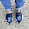 Сліпони мокасини чоловічі літні джинс текстильні джинсові тканинні, фото 4