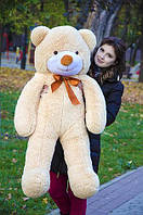 Плюшевий ведмедик бежевого кольору 120 див.