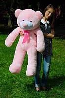 Плюшевий ведмедик рожевого кольору 120 див.