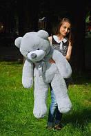 Плюшевий ведмедик сірого кольору 120 див.