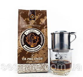 Вьетнамский Кофе натуральный в зернах Premium Kopi luwak Weasel Coffee Huong Mai Cafe зерновой 250g (Вьетнам)