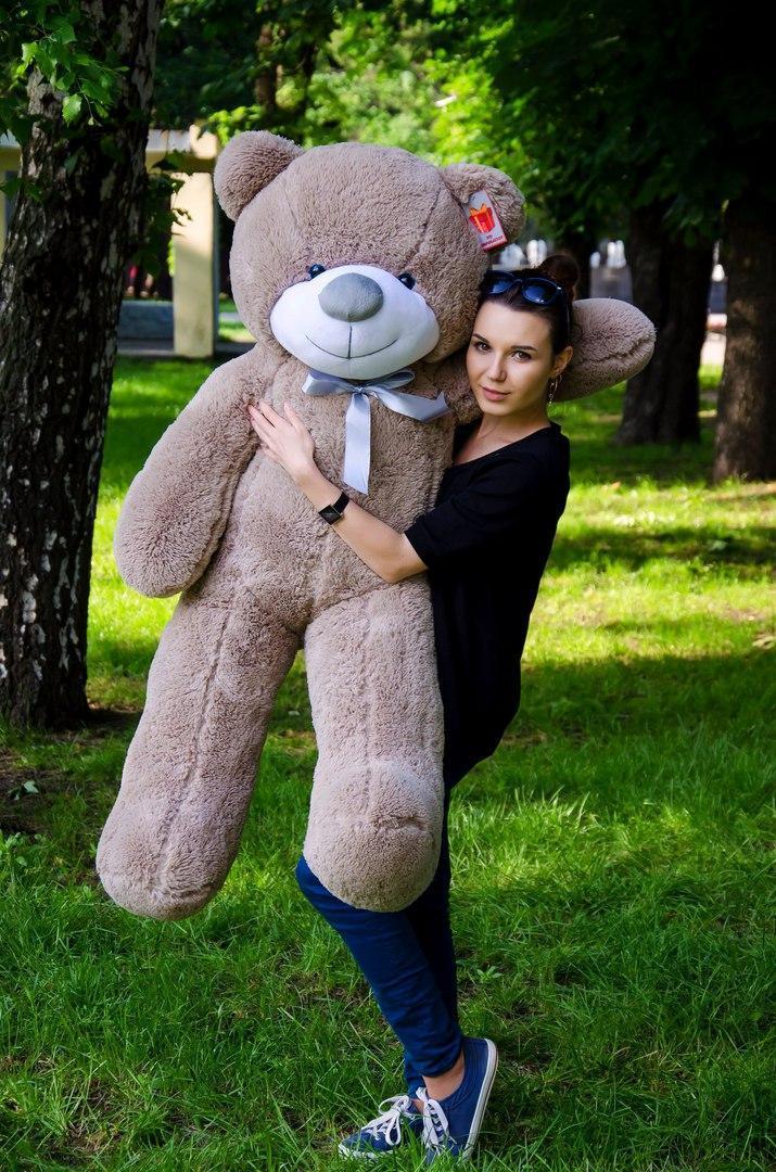Плюшевий ведмедик колір: Капучино - 140 див.