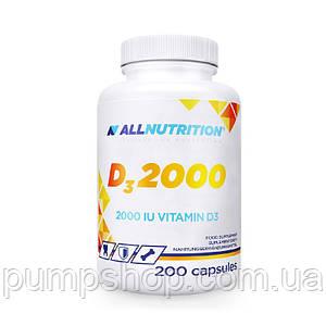 Вітамін D3 AllNutrition D3 2000 200 капс.