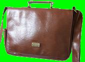Коричневая сумка на плечо из мягкой кожи, фото 1