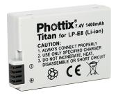 Аналог Canon LP-E8 (Phottix Titan Premium 1020mAh). Аккумулятор для Canon EOS 550D, 600D, 650D, фото 1
