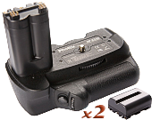 Аналог Sony VG-B30AM (Phottix BP-A350 Premium) + 2x NP-FM500H. Батарейная ручка для Sony A200, A300, A350, фото 1