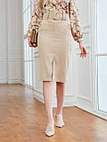 Вельветовая юбка длиной миди с разрезом спереди, фото 5