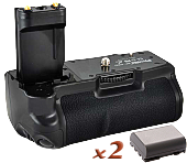 Аналог Canon BG-E3 (Phottix BP-400D Premium) + 2x NB-2LH. Батарейная ручка для Canon EOS 350D/400D, фото 1