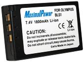 Аналог Olymus BLS-1 (MaximalPower 1800mAh). Аккумулятор для Olympus E-400/410/420, фото 1