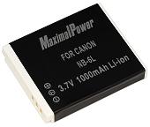 Аналог Canon NB-6L (MaximalPower 1000mAh). Аккумулятор для Canon IXUS 95 IS, 200 IS, 300 IS, PowerShoot D10,