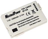 Аналог Canon BP-208 (MaximalPower 1200mAh). Акумулятор для Canon DC і MVX серій