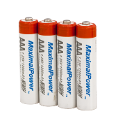 Набор пальчиковых аккумуляторов 4x AAA (MaximalPower 1200mAh), фото 1