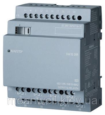 6ED1055-1NB10-0BA2  LOGO! DM16 24R Дискретный модуль расширения LOGO!8