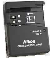 Зарядное устройство Nikon MH-23 для аккумуляторов Nikon En-El9a (Nikon D40, D60, D3000, D5000) [Retail]
