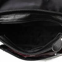 Мужская кожаная сумка-мессенджер через плечо Tiding Bag A25-1288A Черная, фото 4