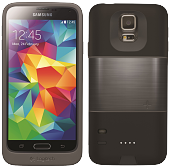 Аккумуляторный чехол Logitech Protection+ для Samsung Galaxy S5 на 2300mAh [Черный]