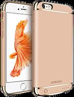 Дизайнерский аккумуляторный чехол Joyroom для iPhone 6/6S на 2500mAh [Золотой], фото 1