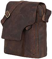 Мужская сумка-мессенджер из натуральной кожи Leaderachi Vintage Hunter [Коричневый]
