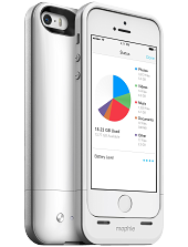 Аккумуляторный чехол с дополнительной памятью Mophie Space Pack для iPhone 5/5S на 1700mAh [16 Гб, Белый]