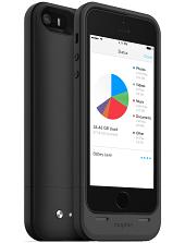 Аккумуляторный чехол с дополнительной памятью Mophie Space Pack для iPhone 5/5S на 1700mAh [32 Гб, Черный]