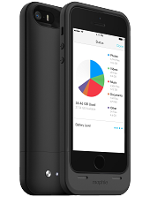 Аккумуляторный чехол с дополнительной памятью Mophie Space Pack для iPhone 5/5S на 1700mAh [64 Гб, Черный]