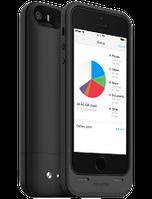 Аккумуляторный чехол с дополнительной памятью Mophie Space Pack для iPhone 5/5S на 1700mAh [64 Гб, Черный], фото 1