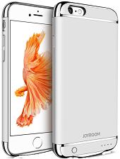 Дизайнерський акумуляторний чохол Joyroom для iPhone 6 plus/6S plus на 3500mAh [3 500 mAh, Срібний]