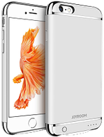 Дизайнерський акумуляторний чохол Joyroom для iPhone 6 plus/6S plus на 3500mAh [3 500 mAh, Срібний], фото 1