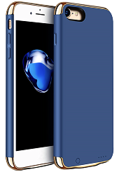Дизайнерський акумуляторний чохол Joyroom для iPhone 7/8 на 2500mAh [Синій (темний)]