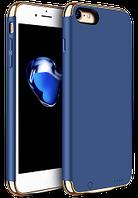 Дизайнерський акумуляторний чохол Joyroom для iPhone 7/8 на 2500mAh [Синій (темний)], фото 1